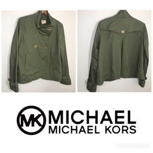 Michael Kors Army Green Double Breasted Jacket